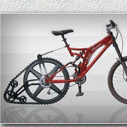Как из велосипеда сделать снегоход?