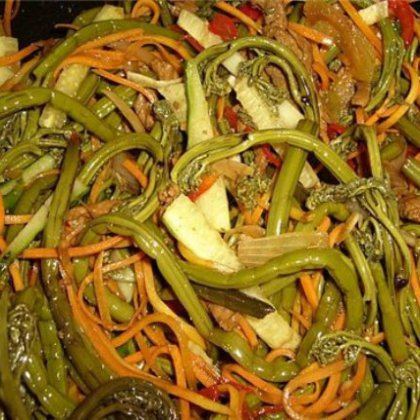 Салат с папоротником рецепт с