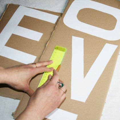 Как сделать буквы из картона?