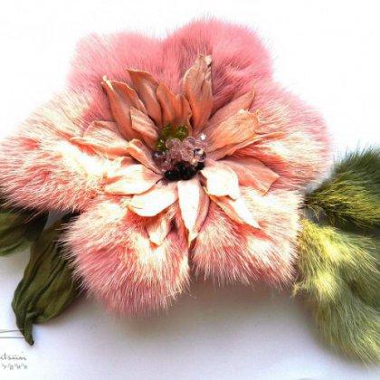 Цветы из кожи и меха мастер класс с пошаговым