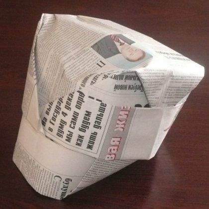 Поделки из бумаги шапку
