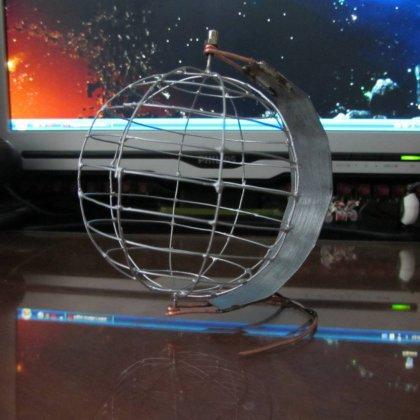 Как сделать глобус из проволоки?