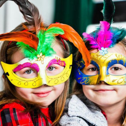 Как сделать новогоднюю маску для ребенка?