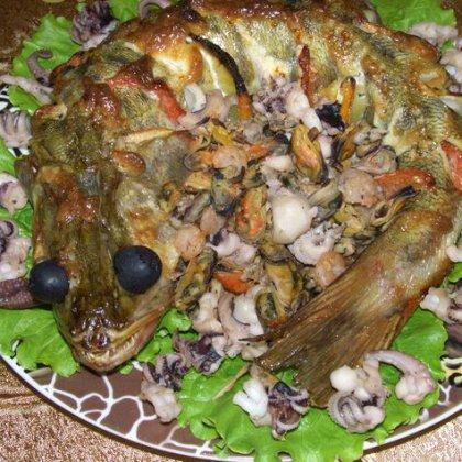 Судак в духовке рецепт с фото целиком с картошкой