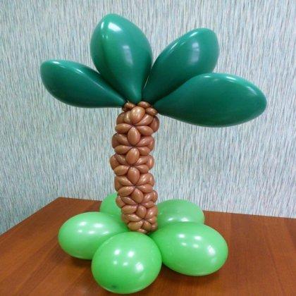 Как сделать пальму из шаров для украшения зала?