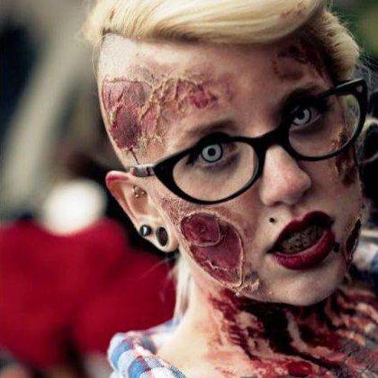 Как делать грим зомби?