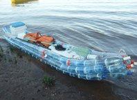 Как сделать лодку из бутылок?